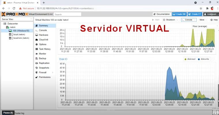 Crear maquina Servidor virtual