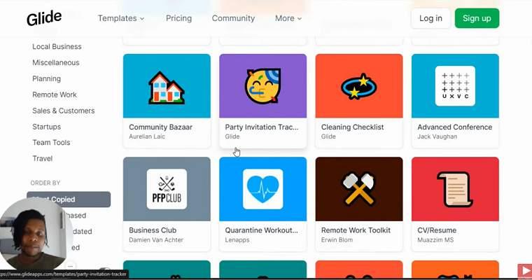 Apps con GLIDE